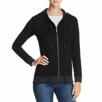 Marc New York Women's Sweatshirt Black Size Xs Full Zip Stripe Hoodie 68 770 Photo