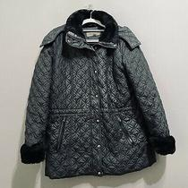 Marc New York Womens Full Zip Up Hooded Puffer Jacket Coat Black Size M Photo