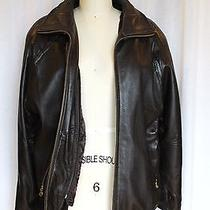 Marc Newyork  Insulated Brown Leather Jacket Removable Quilted Lining Size S/p Photo
