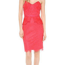 Marchesa Notte Red Lace Dress Photo