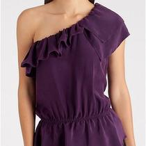 Marciano by Guess Millie One Shoulder  Top Size  Small  Purple Photo