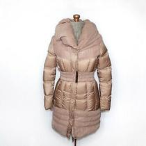 Marciano by Guess Tan Brown Long Puffer Coat Size Xs Photo