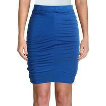 Marciano for Guess Womens Skirt Blue Size Xs Ruched Bodycon Pencil 98- 351 Photo