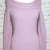 Marciano Guess Angora Cable Sweater L Apres Ski Lavender Purple Photo