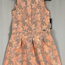 Marciano Guess Girls Jacquard Dress Size14 Colorsilver & Papaya  Floral Photo