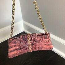 Marciano Guess Pink/blush Pink Snake Print Clutch Bag Very Good Condition Photo