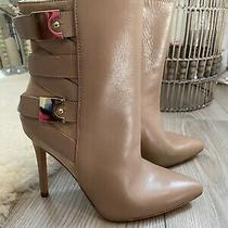 Marciano Leather and Suede Taupe Buckle Booties Sz 36 Never Worn  Photo