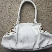 Marciano Sadie White Leather Dome Satchel Guess Jeans Top Shoes Jacket Photo
