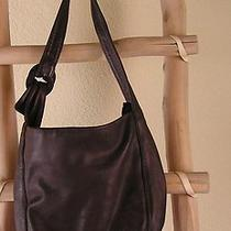 Marco Buggiani Elegant Chocolate Brown Leather L Hobo Made in Italy Photo