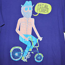 Marcus Oakley Art T Shirt Tee Mens Size Medium M Artist Pedal Power Bicycle Bike Photo