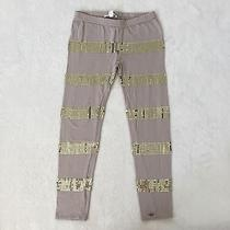 Marie Chantal Sequin Leggings Blush & Gold Size 8 Play Condition Photo