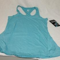 Marika Tek Racerback Loose Fitted Tank Tee  Aqua Small Size Photo