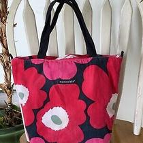 Marimekko X Avon Breast Cancer Crusade Classic Flower Print Canvas Tote Bag Photo