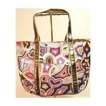 Mark by Avon Extra Large Multi-Color Bronze Straps Tote Bag Purse Hang Bag New Photo