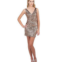 Mark  James by Badgley Mischka - Sleeveless Rose Gold Sequin Dress - Size 0 Photo