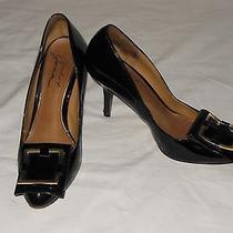 Mark & James Madgley Mischka Black Patent Leather Heels Size 6m Photo