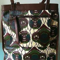 Marni h&m Large Africa Graphic Tribal Print Tote Handbag With Leather Handles   Photo