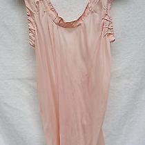 Marni Romantic Backless Blush Ruffle Flowy Silk Blouse Top Dress Skirt Miu Cute Photo