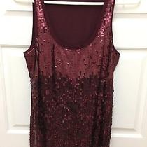 Maroon Sequined Front  Express Tank Top Photo