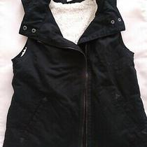 Marrakech by Anthropologie Black Asymmetrical Vest Size S Photo
