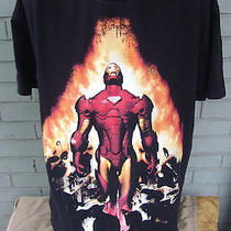 Marvel Comics Black Iron Man T-Shirt Fantasy Superhero Movie Hollywood Xl  Photo