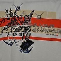 Marvel Comics Silver Surfer Hugo Boss Button Front Shirt L Euc White Ls Photo
