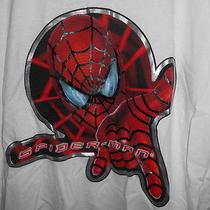 Marvel Mens T-Shirt Xl Ringer Amazing Spiderman Web Slinger Nwt Peter Parker  Photo
