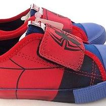 Marvel Spider-Man Boy's High Quality Velcro Sneakers Keds Shoes Size 10.5 Nwt Photo