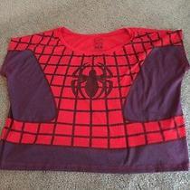 Marvel Spider-Man Juniors Crop Top Medium  Peter Parker Avengers Photo