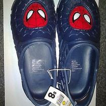 Marvel Spiderman Boys Sizel 2/3 Sandal Clog Croc Like Shoe New W/tags Photo