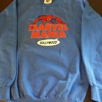 Marvel Spiderman Marvel Mania Hollywood Blue Sweat Shirt Size Medium M Universal Photo