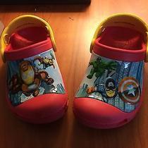 Marvel Superhero Squad Red Toddler  Boys Size 8 9 Crocs Photo