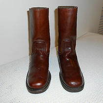 Marvelous Frye Brown Leather Mid-Calf Boots - Size 7.5 Photo