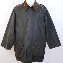 Marvelous Green Barbour Gamefair Wax Jacket Men's Sz 44 Photo