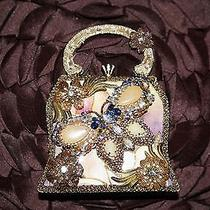 Mary Frances Authentic Unique Numbered Ceramic Butterfly Hard Hand Bag  Photo