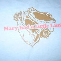 Mary Had a Little Lamb Lamb Chops Satirical T-Shirt Xl Photo