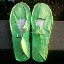 Mary Jane Chinese Doll/bedroom Slippers Shoes Ladies Size 8/39 Lime Green Photo