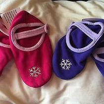 Mary Jane Slipper Socks S/m Pink & Purple  Photo