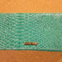 Mary Kay  Prize Aqua Turquoise Embossed Wallet Clutch New Photo