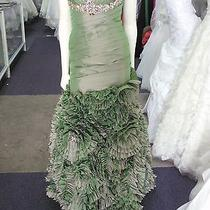 Mary's Bridal Prom Gown Style P3062  Taffeta Green Size 2 Photo