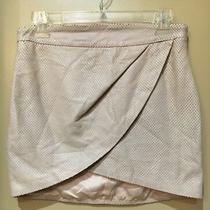 Mason Blush Perforated Leather Mini Wrap Skirt Size 4 Photo