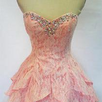 Masquerade 120 Ivory / Deep Blush Prom Party Dress 7 Photo