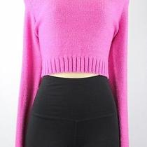 Material Girl Long Sleeves Belly Sweater Pink Junior Size L Lulu Photo