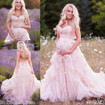Maternity Wedding Dresses Sweetheart Bridal Gowns Ruffles Pregnant Blush Pink Photo