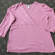 Maternity Womens Sweater Top by Old Navy Size Large Blush Pink 3/4sleeve Xfront Photo