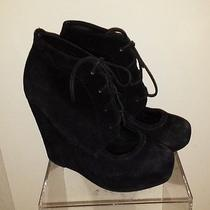 Matiko Kleah Cutout Wedge Boot Suede Size 7 204 Photo