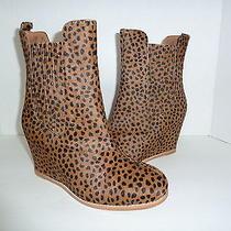 Matiko Tan Cheetah Print Calf Hair Hidden Wedge Boots Sz 8.5 Photo
