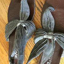 Matiko Urban Outfitter Gray Suede Sandals Ankle Strap Size 6 Photo