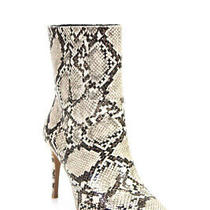 Matiko Womens Mille Mid Shaft Boots Natural Python Snake Print Beige Size 37 7 Photo