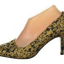 Matiko Womens Shoes Size 37.5 7.5 Black Textured Classic Pumps Heels Casual Photo